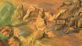 Image for Wasteland 2 video shows a deserted area with a giant scorpion